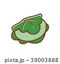 柏餅 餅 端午の節句のイラスト 39003888