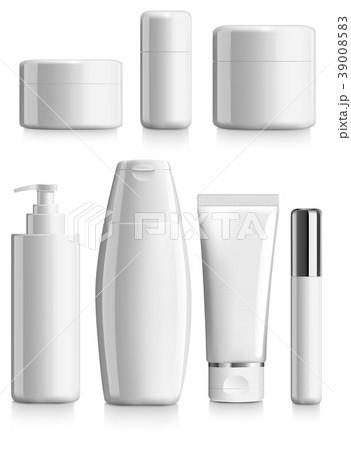 cosmetics blank template packageのイラスト素材 39008583 pixta
