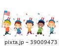 キッズ 子供 旗のイラスト 39009473