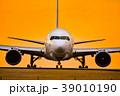 夕焼けの飛行機 A sunset airplane Good luck 39010190