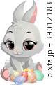 イースター 復活祭 うさぎのイラスト 39012183