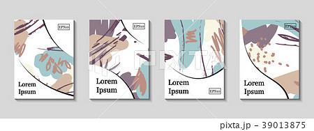 Minimal vector Artistic painted design set.  39013875