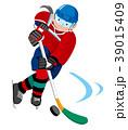 アイスホッケー 競技 女性のイラスト 39015409