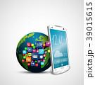 スマートフォン アプリケーション ソーシャルのイラスト 39015615