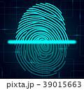 指紋 安全 センサーのイラスト 39015663
