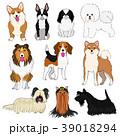 小型犬の素材 手描き 39018294