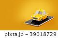 タクシー 空車 スマートフォンのイラスト 39018729