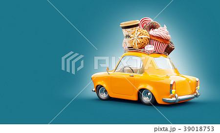 Cute fantastic chocolade car  39018753