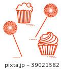 ケーキ 食 料理のイラスト 39021582