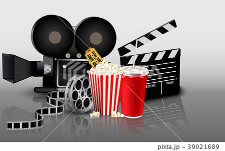Film, popcorn and drink 39021689