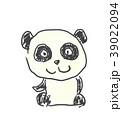 パンダくん。かわいいゆるい動物キャラ子供の落書き風イラスト 39022094