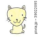 ワンちゃん。かわいいゆるい動物キャラ子供の落書き風イラスト 39022095