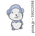 ゴリラくん。かわいいゆるい動物キャラ子供の落書き風イラスト 39022098