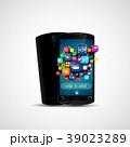 スマートフォン アプリケーション アイコンのイラスト 39023289
