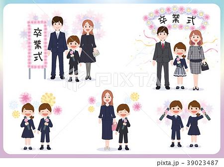 小学校卒業式イメージ集02のイラスト素材 39023487 Pixta