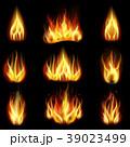 燃える 火 火ののイラスト 39023499
