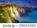 Night view of Duden Waterfall in Antalya, Turkey 39024362