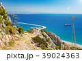 Sunny day blue sky, clear sea near Antalya, Turkey 39024363