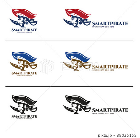 pirates logo design templateのイラスト素材 39025155 pixta