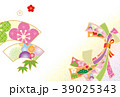 年賀状素材 正月 新年のイラスト 39025343
