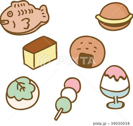 かわいい和菓子のイラスト素材のイラスト素材 39030038 Pixta