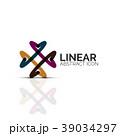 直線的 線 線状のイラスト 39034297