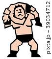 プロレス レスラー プロレスラーのイラスト 39034712