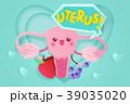 解剖学 キャラクター 文字のイラスト 39035020