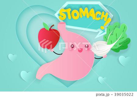cute cartoon stomach 39035022