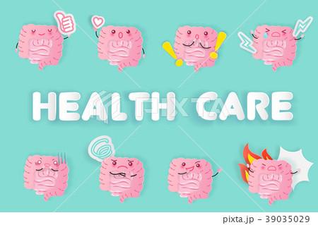 cute cartoon intestine 39035029