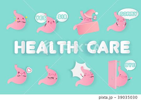 cute cartoon stomach 39035030