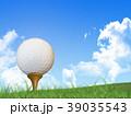 ゴルフ ゴルフボール 芝のイラスト 39035543