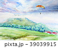 羊蹄山のパラセーリング ニセコ 羊蹄山 39039915