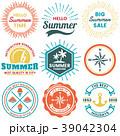 夏 シンボルマーク ロゴのイラスト 39042304