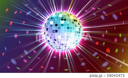 Disco ball background. Vector 39043473