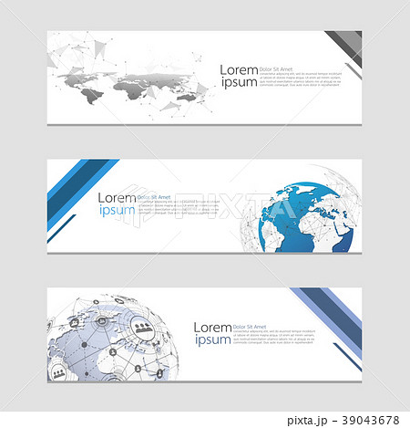 set of modern abstract design web banners templateのイラスト素材