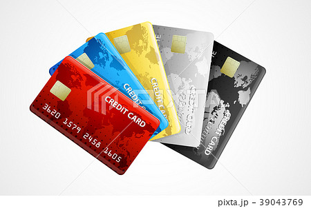collection of credit cards . Vector 39043769