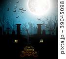 ハロウィン 墓地 墓場のイラスト 39045098