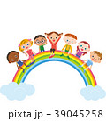 虹 子供達 子供のイラスト 39045258