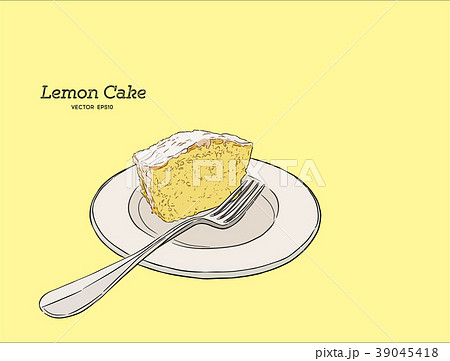 lemon cake with poppy seeds and sugar glaze vector 39045418