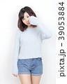 女性 女の子 セーターの写真 39053884