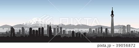 Tokyo city skyline view. Travel Japan background. 39056872