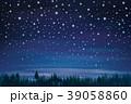 夜 星 空のイラスト 39058860