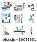 病院 患者 医者のイラスト 39058961