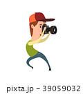 パパラッチ カメラ 写真機のイラスト 39059032