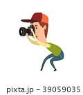カメラ 写真機 カメラマンのイラスト 39059035
