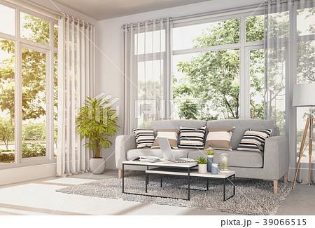 Living room interior in modern style, 3d render 39066515