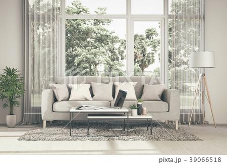 Living room interior in modern style, 3d render 39066518