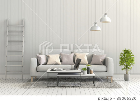 Living room interior in modern style, 3d render 39066520