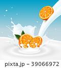 オレンジ オレンジ色 くだもののイラスト 39066972